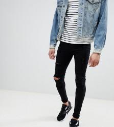 Blend TALL Flurry Black Knee Rip Extreme Skinny Jeans - Black