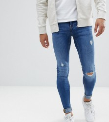 Blend TALL Flurry Mid Wash Extreme Skinny Jeans - Blue