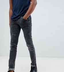 Blend Tall skinny biker jeans in washed black - Black
