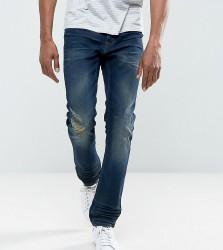 Blend Twister Slim Fit Jean Ripped Dark Wash - Navy