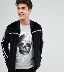 Blend Velour Zip Sweater - Black