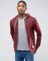 Blend zip thru hoodie core in burgundy - Red