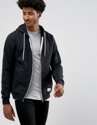 Blend Zipthru Hoodie Core in Black - Black