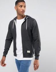 Blend Zipthru Hoodie Core in Charcoal - Grey