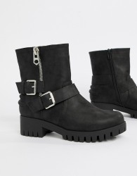 Blink Biker Ankle Boots - Black