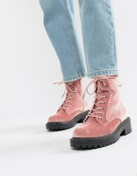 Blink Chunky Hiker Ankle Boots - Pink
