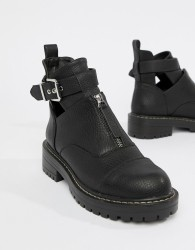 Blink Flat Ankle Boots - Black