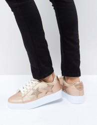 Blink Flatform Lace Up Trainers - Copper