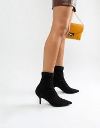 Blink Kitten Heel Ankle Boots - Black