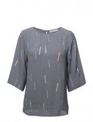 Blouse W. 3/4 Sleeves And Summer Ra