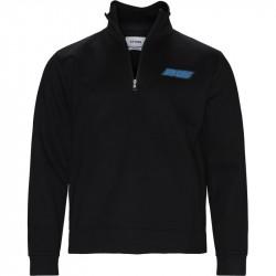 BLS Regular fit QUARTER ZIP RACER Sweatshirts Sort