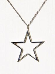 Blue Billie Big Star Charm Vedhæng Sølv