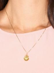 Blue Billie Seashell Charm Vedhæng Guld