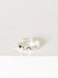 Blue Billie Stud Ring Ring Sølv