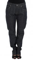 Blue Cotton Oversize Denim Jeans