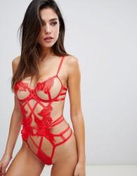 Bluebella Nikita Strappy underwire body in red - Red