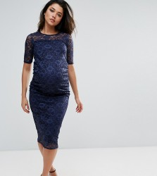 Bluebelle Maternity All Over Lace Bodycon Dress - Navy