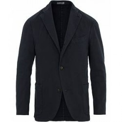 Boglioli K Jacket Cotton Stretch Blazer Navy