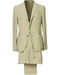 Boglioli K Jacket Patch Pocket Linen Suit Sage Green men 50 Grøn