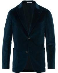 Boglioli K Jacket Peak Lapel Velvet Blazer Dark Blue men 54 Blå