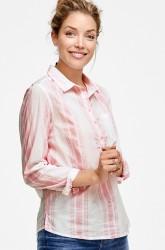 Bomuldsskjorte i lige model