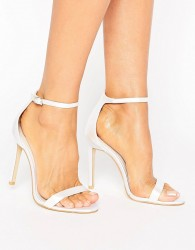 Boohoo Bridal Barely There Heeled Sandal - White