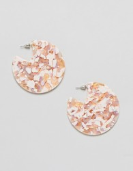 Boohoo Gold Fleck Resin Earrings - Multi