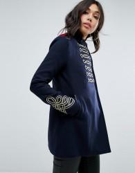 Boohoo Military Coat - Navy