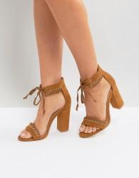 Boohoo Whipstitch Heeled Sandal - Tan