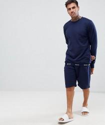 boohooMAN loungewear set in navy - Navy