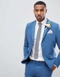 boohooMAN Skinny Fit Suit Jacket In Blue - Blue