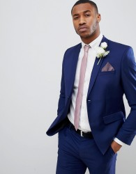 boohooMAN Skinny Fit Suit Jacket In Blue - Blue