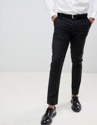 boohooMAN Skinny Fit Suit Trousers In Black - Black