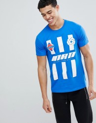 boohooMAN T-Shirt With Man Print In Blue - Blue