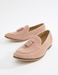 boohooMAN tassel loafers in pink - Pink