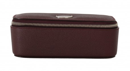 Bordeaux Leather Jewelry Sunglasses Case Bag