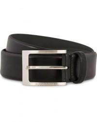 Boss Barnabie Leather Belt 3,5 cm Black men 85 Sort