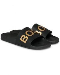 Boss Bay Slide Flip Flop Black/Gold men 46 Sort