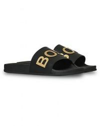 Boss Bay Slides Black/Gold men 44 Sort