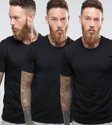 BOSS Black By Hugo Boss Crew T-Shirt 3 Pack In Regular Fit Black - Black