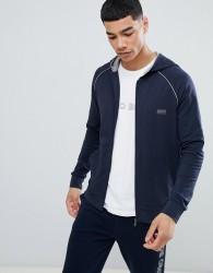 BOSS Bodywear Zip-Thru Jacket With Hood - Navy