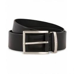 Boss Buddy Leather Jeans Belt 4 cm Black