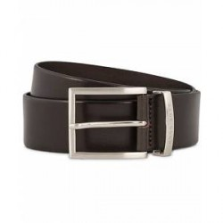 Boss Buddy Leather Jeans Belt 4 cm Medium Brown
