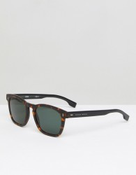 BOSS By Hugo Boss 0926/S Square Sunglasses In Tort - Brown