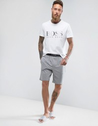 BOSS By Hugo Boss Regular Fit Lounge Shorts With Contrast Waistband - Grey