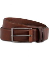 Boss Carmello Leather Belt 3,5 cm Medium Brown men 85 Brun