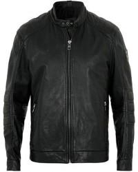 Boss Casual Jagson Leather Jacket Black men 52