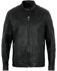 Boss Casual Jagson Leather Jacket Black men 48