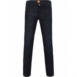 Boss Casual Orange 63 Slim Fit Jeans Dark Blue