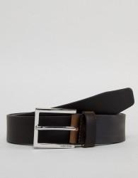 BOSS Cele Leather Belt in Dark Brown - Brown